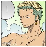 Zoro in the bath~ by AnnaHiwatari