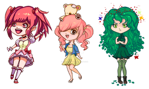 August chibis by RazorCheeks