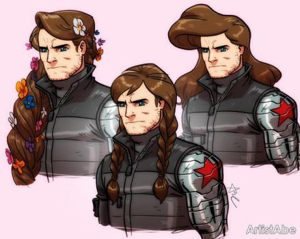 Bucky hairstyles by ArtistAbe