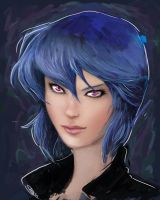 Major Motoko Kusanagi (speed painting) by CateLara