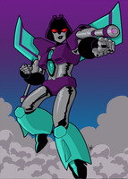 Commission: Transformers Animated Slipstream by Natephoenix