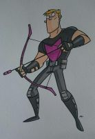 HAWKEYE - marker sketch by tyrannus