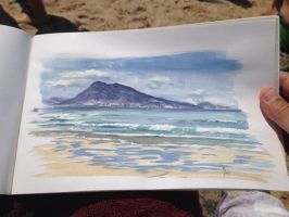 View from Biarritz beach France by dustdevil