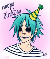 Birthday Zombie by zims-lost-soul