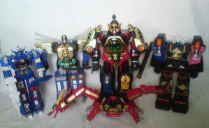 Megazord collection - Power Rangers by Harvy355