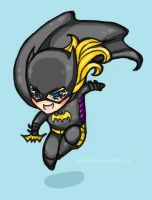 Commission - Chibi Batgirl by mlle-annette