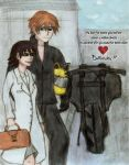 DRRR - genderbent Celty x Shinra *-------* by csicsus