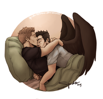 Snuggling Angel by spider999now