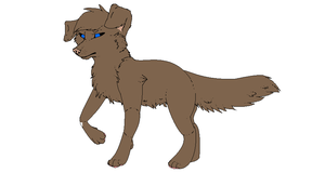 Free ms paint dog lineart 3 by Mitzi-Mutt