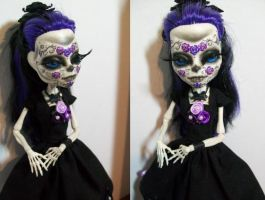 Day of the dead Skelita Monster High Custom by AdeCiroDesigns