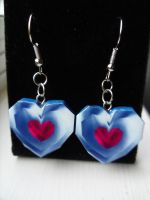 Fan Art Legend of Zelda Heart Container Earrings by skatemaster007