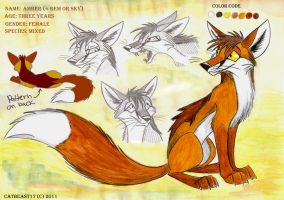 Charactor Sheet: Amber by CatBeast17
