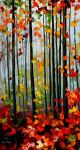 FALLING LEAFS - Oil Painting On Canvas by Leonidafremov