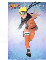 Naruto with a Rasengan by Apostoll