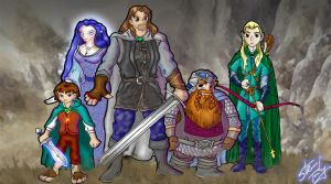 Lord of the Rings Anime by scruffyzero
