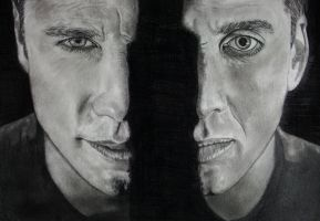 It's like looking in a mirror, only, not. by ArtIsLife88