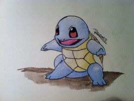 Kanto no. 007 Squirtle by Randomous