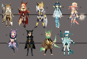 Adopts:: RPG Eeveelutions CLOSED by Pandastrophic