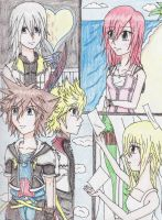 Kingdom Hearts II- Colored by IchigoKeyblade