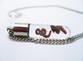 Ebola Virus in Test Tube Necklace by sagicornDreams