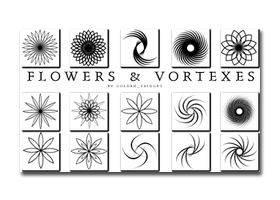 Flower + Vortex Brushes by golden-snidget