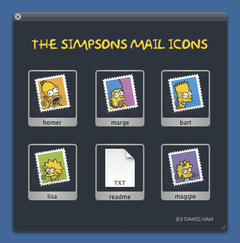 The Simpsons Mail Icons by 148