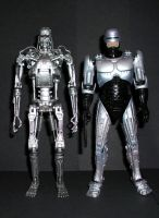 Terminator and Robocop by CyberDrone