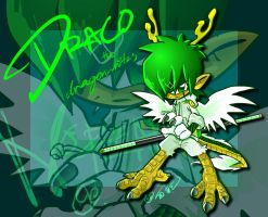 Draco in sonic style o__0 by dragonwhites