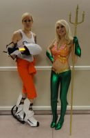 NYCC'12 Chell and Aqualady by zer0guard