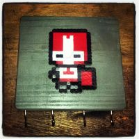 Red Castle Crasher keychain holder by Artesanias-Xion