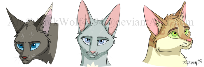 MistClan Cartoon Sketches 01 (PNG) by Wolf-Trek