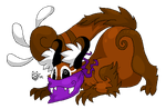 Red Panda Monster by zombiecatfire13