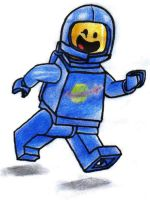 The LEGO Movie - Benny the Spaceman by KrytenMarkGen-0