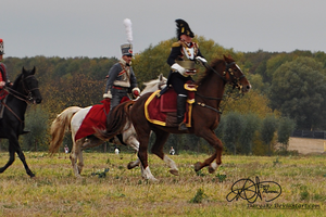 Austrian Hussar and Officer 1813 by Darya87