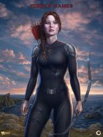 Katniss, Hunger Games by Lobzov