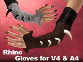 Rhinoceros Gloves V4,A4,V4Male by parrotdolphin