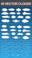 45 Vector Clouds by nadaimages