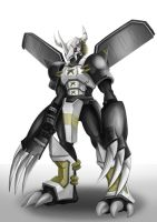 Black Wargreymon by Departedpro