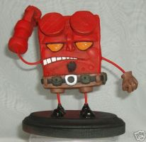 Spongebob Squarepants Hellboy by abe6565