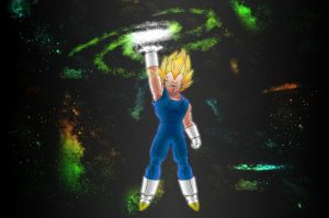 TheBALLz - Vegeta Hatin' (and owning) IN SPAAAACE by MegaBe820