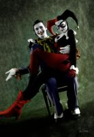 Harley Quinn and Joker cosplay by spilgrym