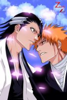 Ichigo vs Byakuya by Salty-art