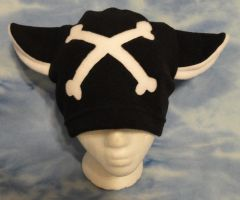 White Crossbones Kitty Hat Cat Skull by HatcoreHats