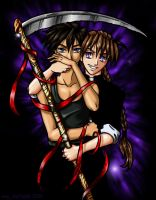 Commission - Shinigami's Love by envy-fairchylde