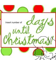 Insert number of days until Christmas. by 0froggydog0