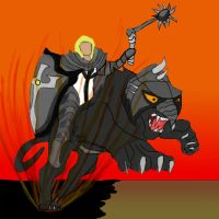 Crusader On Hell Cat by daylover1313
