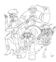 Gorillaz: My next master piece by GND-KicaCris