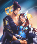 Hanzo and Symmetra by SirensReverie