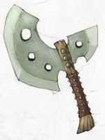 Rugged Broad Axe by Arkveveen