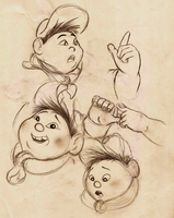 Russell Sketches - Part 2 by Mitch-el